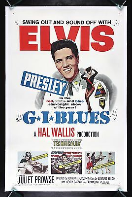 G.I. BLUES * CineMasterpieces 1960 ELVIS PRESLEY ARMY ORIGINAL MOVIE POSTER G I