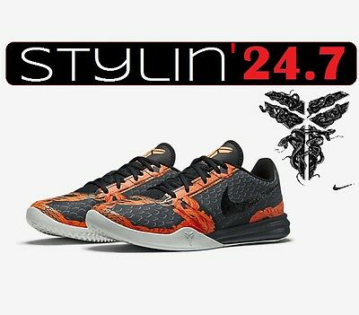 Men's Nike KB Mentality Shoes 704942 200 Dk Pweter/Orange Awesome LTMD Edition