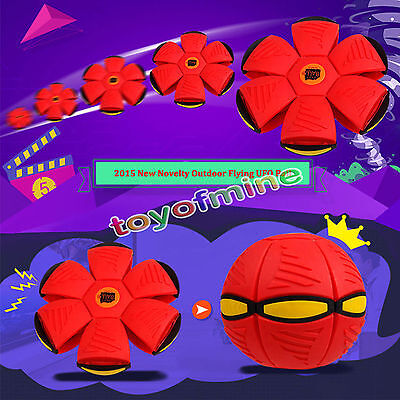 Novelty Flying UFO Flat Throw Disc Ball Toy Fancy Soft Kids Outdoor Spiderman