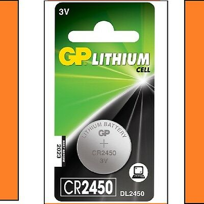 1 x GP CR2450 3V Lithium Coin Cell Battery 2450 DL2450