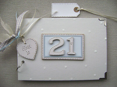 PERSONALISED 21st birthday .A5  SIZE... PHOTO ALBUM/SCRAPBOOK/MEMORY BOOK.