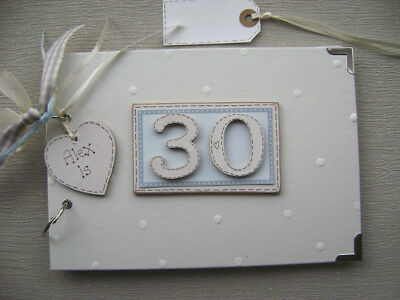 PERSONALISED 30th  birthday .A5  SIZE... PHOTO ALBUM/SCRAPBOOK/MEMORY BOOK.