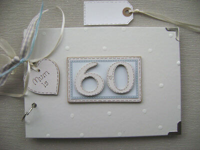 PERSONALISED 60th  birthday .A5  SIZE... PHOTO ALBUM/SCRAPBOOK/MEMORY BOOK.
