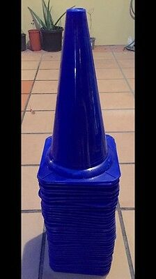 10 x 15inch Blue Sports Training Safety Cones/Markers - Sport Training Tool