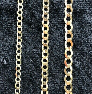 """Solid 9ct Yellow Gold Curb Chain Hallmarked Ankle Chain 10"""" FREE UK POST *NEW*"""