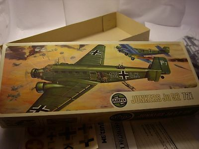 AIRFIX 588 SERIES 5 WWII GERMAN JUNKERS Ju 52 TRANSPORT PLANE Ar 72nd Scale