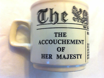 King Edward VII Accouchement of Her Majesty Cup 1841 Made in Ireland Cream Black