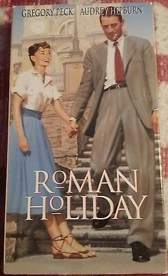 Roman Holiday (VHS, 1992) Gregory Peck Audrey Hepburn