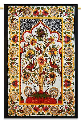Indian Tree Of Life Tapestry Hippie Wall Hanging Bohemian Bedspread Twin Decor