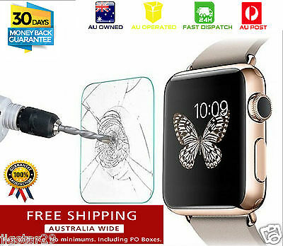 Apple Watch Tempered Glass Screen Protector for 38mm & 42mm Front Cover iWatch