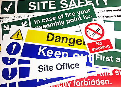 CONSTRUCTION SIGN SAFETY PACK LITE Choose Material With Foamex Site Safety Sign