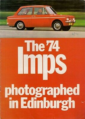 Hillman Imp 1973-74 UK Market Sales Brochure Base De Luxe Super Sunbeam Sport