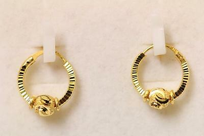 22ct/916 sparkling attractive indian gold pair of earrings *Boxed*