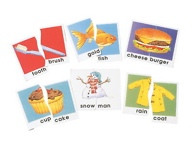 Didax Compound Words Matching Puzzle Card Set