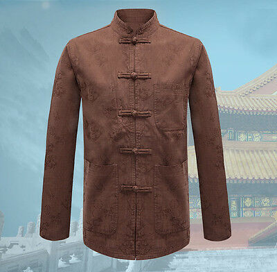 New Arrived Brand Chinese Traditional Cotton Men's Kung Fu Jackets Coat M-3XL