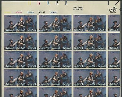 "#1631b ""SPIRIT OF 76"" FULL SHEET/50 MAJOR IMPERF ERROR W/ PFC CV $12,000 WL9878"