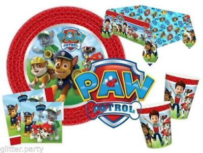 Pawpatrol Boys Party Complete Kits 8 To 48 Guests Tableware Plates Cups Napkins