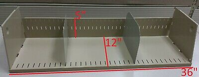 "One Used SHELF 36"" Wide + 2 Dividers 6"" tall for Cubicle/Partition/WorkStation"