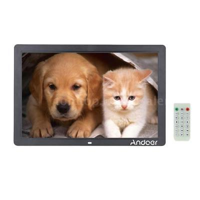 """17""""in HD 1080P LED Digital Photo Picture Frame Movie Player Remote Control OC9D"""