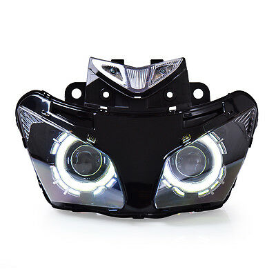 KT LED Angel Eye Motorcycle Headlight Assembly for Honda CBR500R 2013 2014 2015
