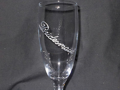 Bridesmaid Elegant Champagne Glass / Flute. SPECIAL OFFER.