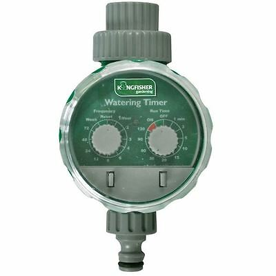 Kingfisher Deluxe Electronic Garden Tap Water Timer Gardening 24 Cycle WT100