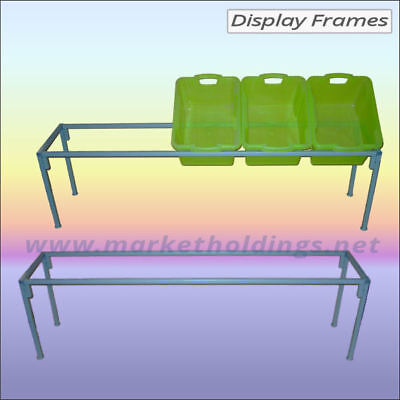 2 x 6' Metal Display Frame Stands - Market Trader 1.8m Low Tables - Packs Flat