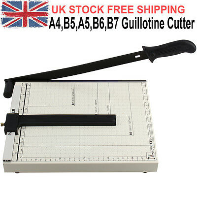 Professional Manual Heavy Duty A4 Paper Guillotine Cutter Trimmer Machine Office