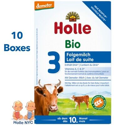 Holle Stage 3 Organic Baby Formula 10 Boxes 600g Free Shipping