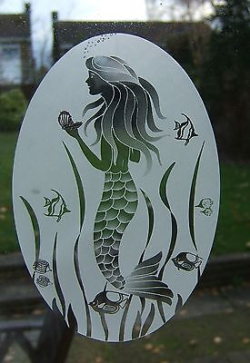 MERMAID Vinyl Window Decoration / Static Cling / Decal / Window film 10x15cm