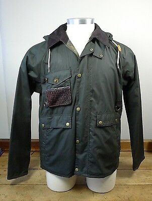 Barbour NWT Men's Fishing Jacket 'Standen' Waxed Cotton in Olive VARIOUS SIZES