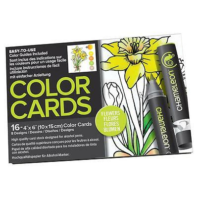 Chameleon Color Tones Colour Cards FLOWERS - Adult colouring for alcohol markers