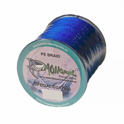 Braid Fishing Line 60 LB 500M. Mongrel Fishing Tackle Braid Blue RRP $35.00