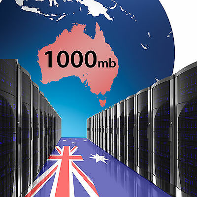 Australian Web Hosting 1000mb x 1 year - Fast Reliable Domain name website