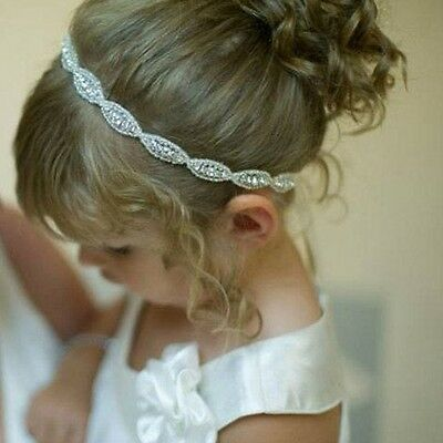 Cute Baby Princess Flower Girls Kids Hair Band Children Rhinestone Headband 1PC