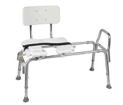 Heavy-Duty Sliding Transfer Bench with Cut-Out Seat Shower Chair
