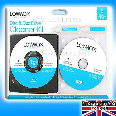 LASER LENS Cleaner Cleaning Kit Fluid PS4 PS3 PS2 XBOX 360 BLU RAY DVD CD DISC💿