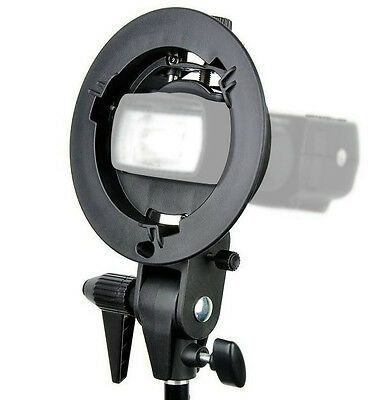 Godox Adjustable S Type Bowens Mount Bracket for Speedlight Flash Snoot Softbox