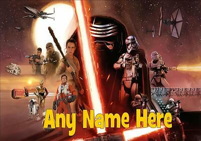 Star Wars The Force Awakens Personalised Placemat