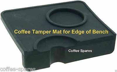 Coffee TAMPING Tamper MAT for edge of bench with tamper Holder & Tamping Rest