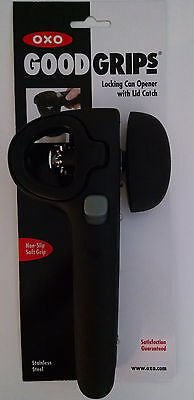 OXO Good Grips Locking Can Opener w/Lid Catch (Matte Black) 7814523