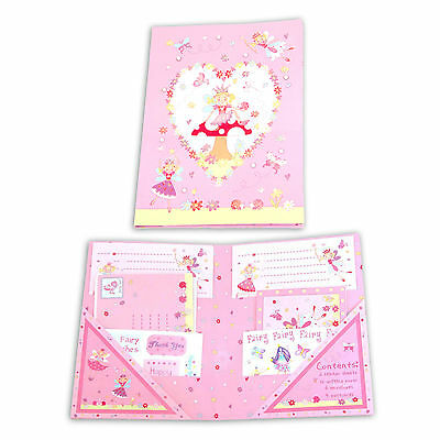 Pink Fairy Kids Girls Writing Notelet Writing Paper Thank You Cards -Lucy Locket