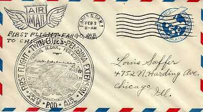 Etats Unis USA 1ers vols first flights airmail 430