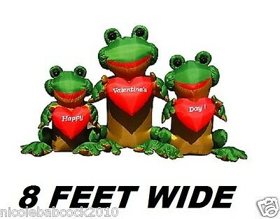 Valentine's Day Heart Froggy's Lighted Airblown Inflatable Yard Decor