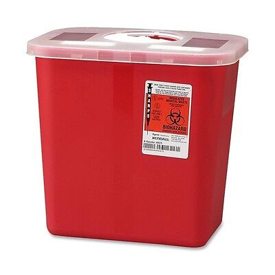 2 Gallon SHARP Needle Disposal Container Lid 8970 tattoo Sharps - LOT OF 2!