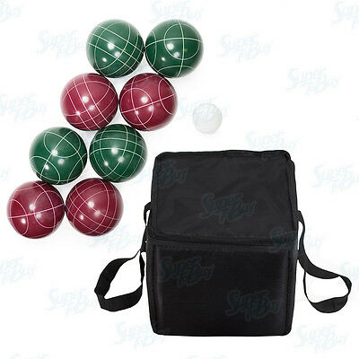 Bocce Ball Set (90mm) 9 Piece with Nylon Carrying Case Pallina/Jack Ball Game
