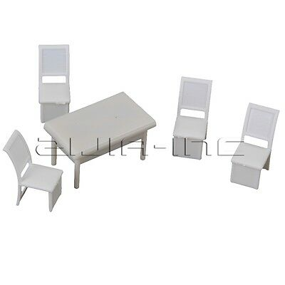 5 Tables 20 Chairs 1:50 Scale Dollhouse Miniature Furniture Dining Room DIY Play