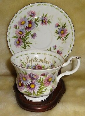 Royal Albert Flower of the Month Cup/Saucer - September Michaelmas Daisy England