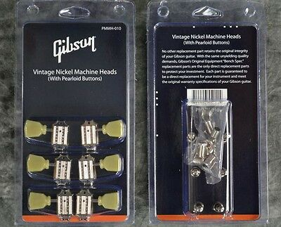 NEW Genuine Gibson Deluxe Tuner Tuning Machine Nickel set for Les Paul SG Guitar