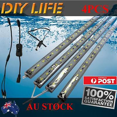 4X12V Waterproof Cool White 5630 Led Strip Lights Bars Camping Caravan Boat Set